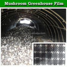 Black and white grid plastic greenhouse film for mushroom / bacteria growing house