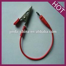 alligator clip to 4mm banana plug test lead
