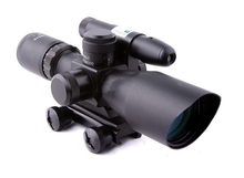 Hunting rifle scope 2.5-10X40mm with green laser sight Tactical Optics Scopes Riflescope