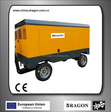 portable diesel screw air compressor from Dragon factory