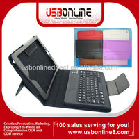 Wireless Bluetooth Keyboard Leather Case For Mini ipad black white red Blue Brown Pink