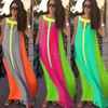 European and American style beach party dress/colorful sexy maxi chiffon dress