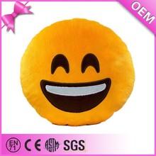 Hot sale popular custom plush pillow emoticon plush emoji pillow