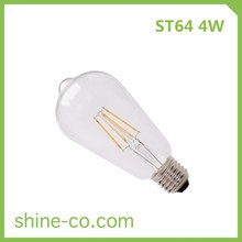 4W ST64 Hot Sale Vintage Design LED Lights Lighting Filament Bulbs by Manufacture in China