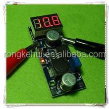 DC-DC boost adjustable power supply module LM2587 voltage regulator module With voltage meter display