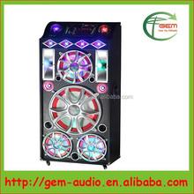 Karaoke multimedia speaker Portable bluetooth wooden speaker with disco ball Gem-780