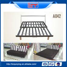 Most popupar modern steel sofa bed mechanism with chromed legs