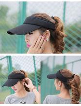black sun visor bucket hat
