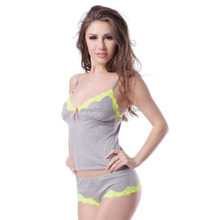 2015 Hot sale new design women sexy two piece sleepwear