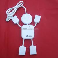 usb A male to usb 2.0 four females ports usb hub adapter cord