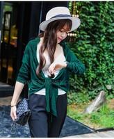 stock service fashion bamboo cardigan long sleeve women's knit sweater 1106