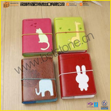 Cute And Fashion Design Of Leather Diary Books Different Animal Picture Accept OEM Design Leather Cover