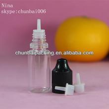 ISO8317 10ml pet engine oil plastic bottle plastic dropper bottle long thin tip eliquid dropper bottle