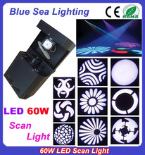 Disco indoor stage lighting 60W rotating gobo LED scanner