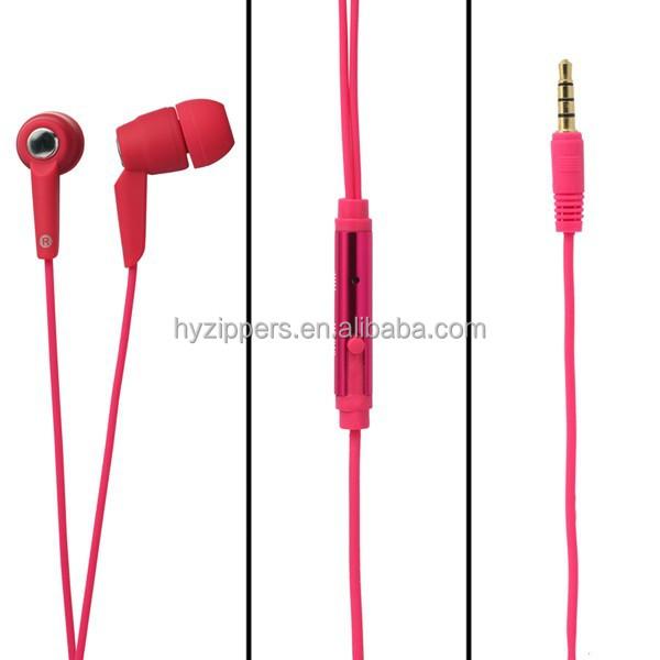 High end auscultadores de metal de ouvido com microfone e controle de volume