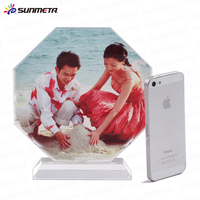 Sunmeta christmas gift Octagonal screen shape sublimation crystal(BSJ26C)