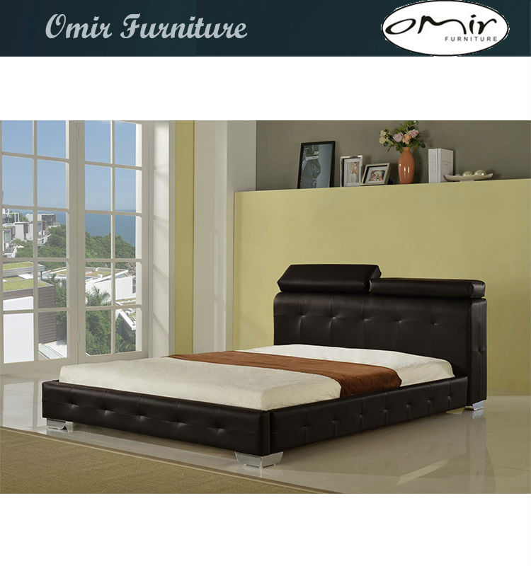 Unique king size concise leather bed frames sale buy for Unusual king size beds