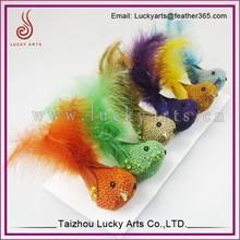 Taizhou Luckyarts Decorative Bird With Turkey Feather
