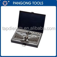 28PCS M3 - M12 Hand Threading Tool Metric HSS Tap Die And Drill Set