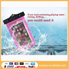 Clear Neck/Armband Strap Waterproof Pouch Bag Protective waterproof bag for swimsuit for cell phone