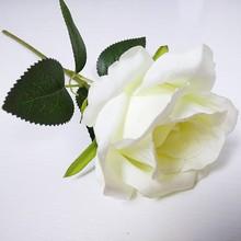 Natural White Single Stem Silk Roses