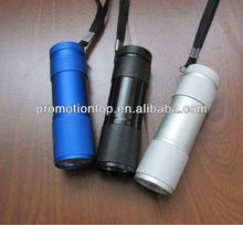 metal 9 Led Aluminum torch for promotion