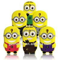 for Samsung Galaxy S4 minions cartoon silicon case cover