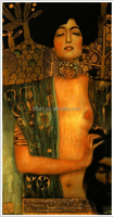 Gustav Klimt Egyptian nude sexy attractive lady handmade oil painting