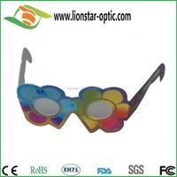 kids favor Christmas gift diffraction glasses, fireworks celebration glasses, cheap paper material