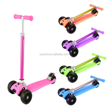 Christmas new year gift three big wheel CE EN71 mini kids kick foot pedal scooter