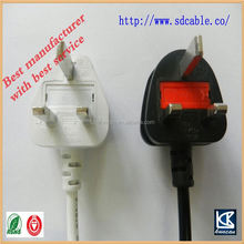 uk AC power cable uk power cord with socket uk plug uk 3 pin mains plug to iec320 c7 inlet