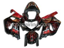 Red Flame for Suzuki GSXR600/750 K1 01-03 Motorcycle /Scooter Frame Fairing Kits