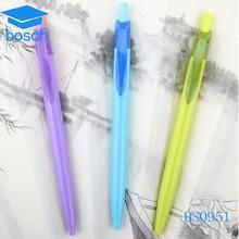 2015 Cheapest !! Promotional plastic multi color ink pens