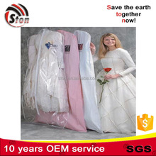 Customized non woven dustproof storage fashion dance clear bags with garment rack