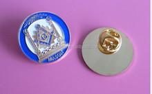 soft enamel car emblem freemasonic lapel pin(box- metal lapel pin-162b)