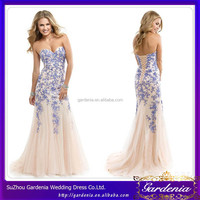 Elegant Sweetheart Lace Appliqued Sleeveless Lace-up Back Floor Length Lavender Mermaid Wedding Dresses WD115