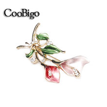 Fashion Jewelry Flower Pin Brooch Women Wedding Party Promotion Gift Collar Dresses Hijab Scarf Apparel Promotion Accessories