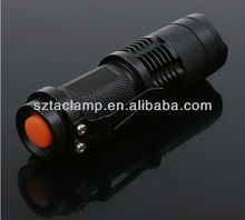 Mini LED Torch 7W 300LM CREE Q5 LED Flashlight Adjustable Focus Zoom flashlight