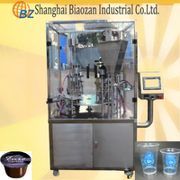Automatic flavored milk/ milk tea/ mineral water cup filling and sealing Machine