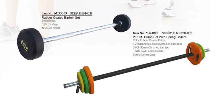 Crossfit barbell plates and Olympic weight lifiting Barbell bar