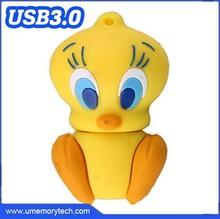 Tweetybird shaped wholesale bulk animal shape usb flash drive customize logo printed usb flash drive