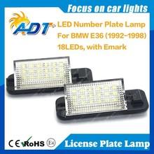 No error E36 LED license plate for BWM, LED number license plate lamp