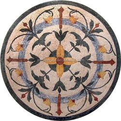 Kerala mosaic floor tiles design for private home entrance design