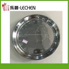 Cheap Stainless Steel Serving Tray Hotel Dish Dinner Ware Grape Plate Fruit Plate 26cm-80cm 410