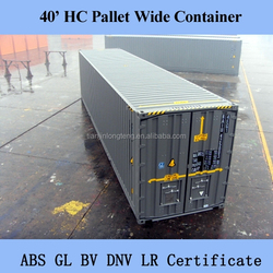 Europe Pallet 40ft HC Extra Wide Shipping Container