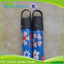 brush/broom/mop 22mm 25mm round eucalyptus wood pvc coated handle