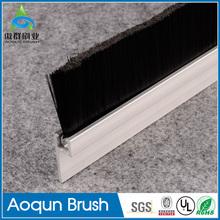 Durable metal door bottom brush weather strip