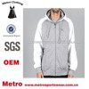 2015 Customized Printed on Back Sweatshirt Fleece Hoodies with Contrasting Hood