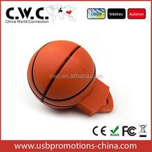 basketball shape pvc usb pendrive