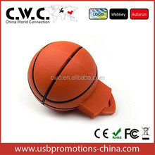 basketball shape usb pvc flash drive